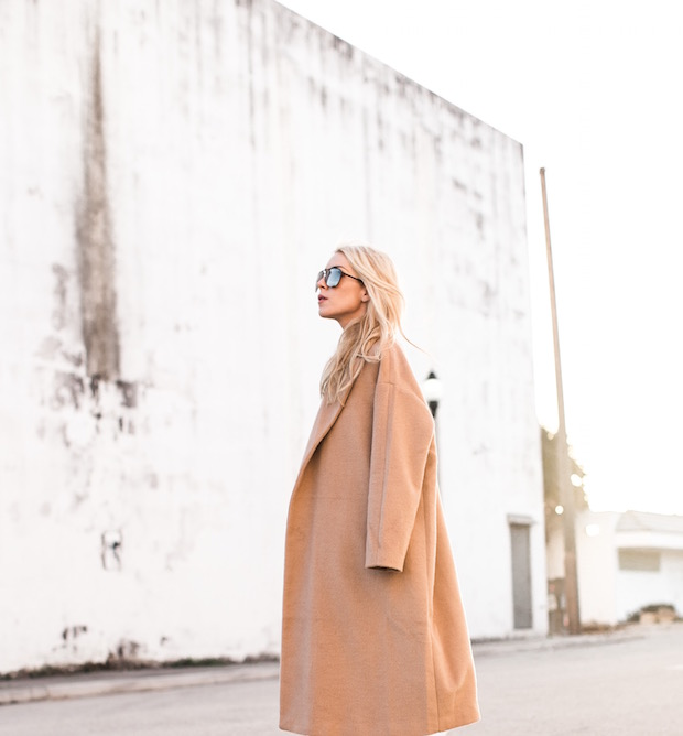 camel coat winter style holiday outfit winter coat