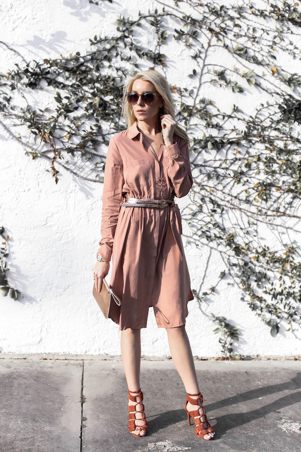 new neutrals blush rust rose gold best fall colors blush dress rose gold metallic trend fall dress fall coat the supper model darcy jones best fashion bloggers