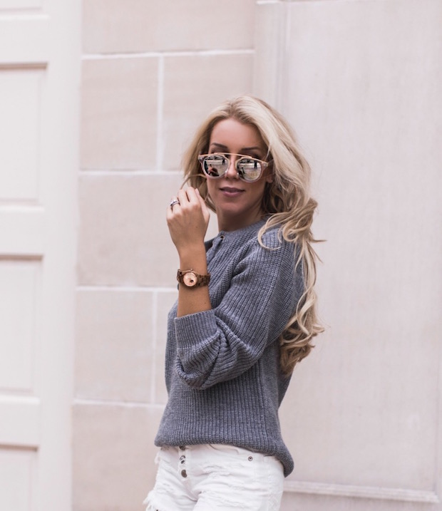 jord watch giveaway laced up sweater grey sweater palm beach blogger top fashion blogger the supper model darcy jones fall fashion